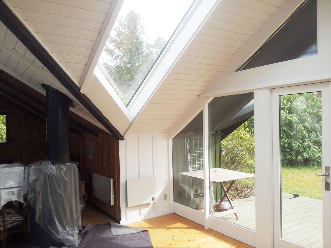 Sommerhus efter Malerfirmaet Rørvig har malet.
